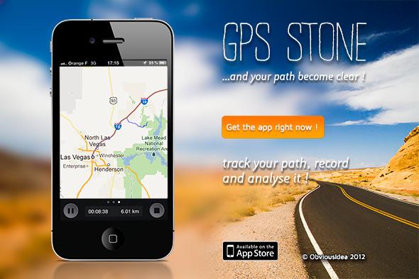 GPS Stone landing page