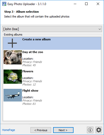 Easy Photo Uploader for Facebook